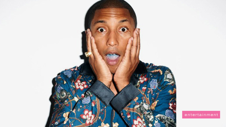 Pharrell's disappointed response to embarrassing slip-up