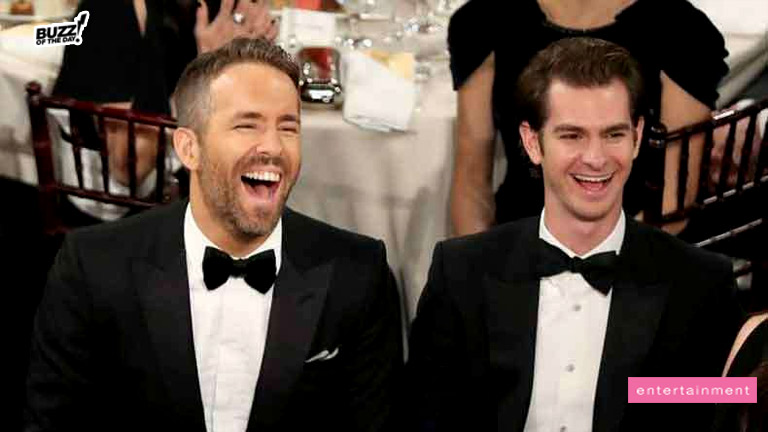 Ryan Reynolds and Andrew Garfield Caught Kissing