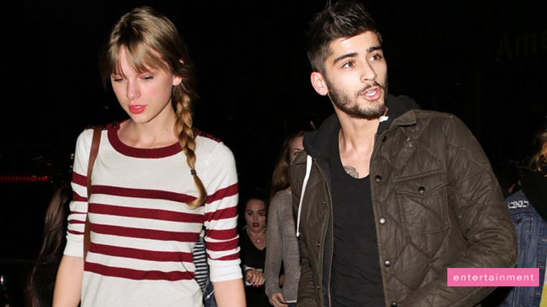 "Zayn Malik and Taylor Swift ""set fire"""