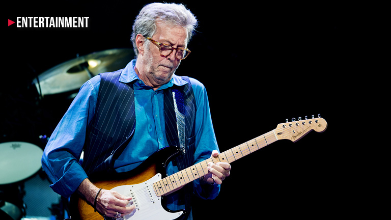 Eric Clapton unable to play guitar