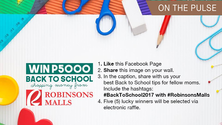Back to School money from Robinsons Malls