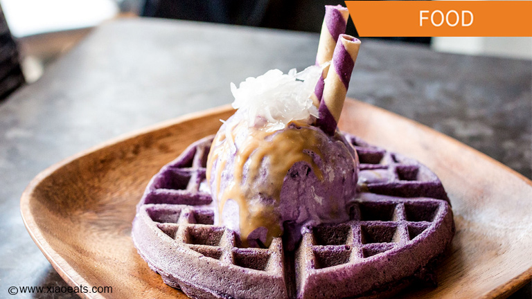 Here's the ube waffle ice cream popular in Toronto right now!