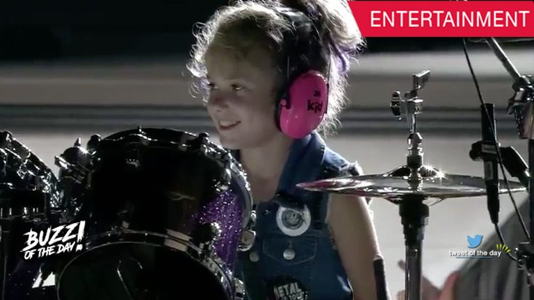 Little Kendallyn wished to replace Lars Ulrich as drummer for Metallica.
