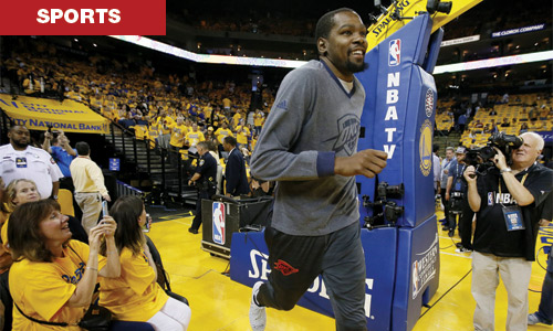 Durant at Oracle Arena