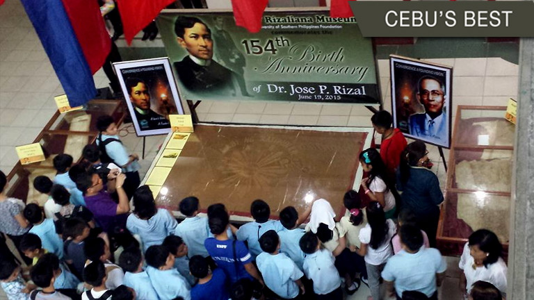 Jose Rizal memorabilia outside Luzon
