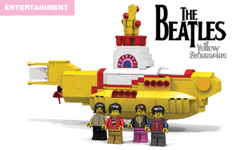 Yellow Submarine with the new Beatles Lego