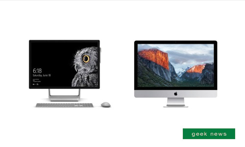 Surface Studio compares to the iMac