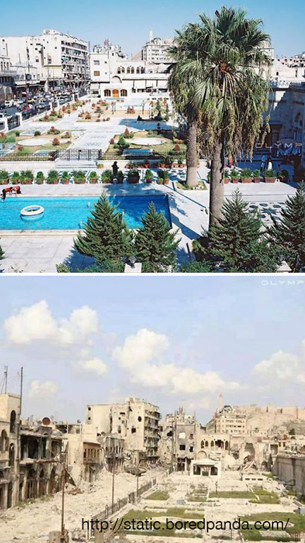 Before and After Pics of Aleppo 1