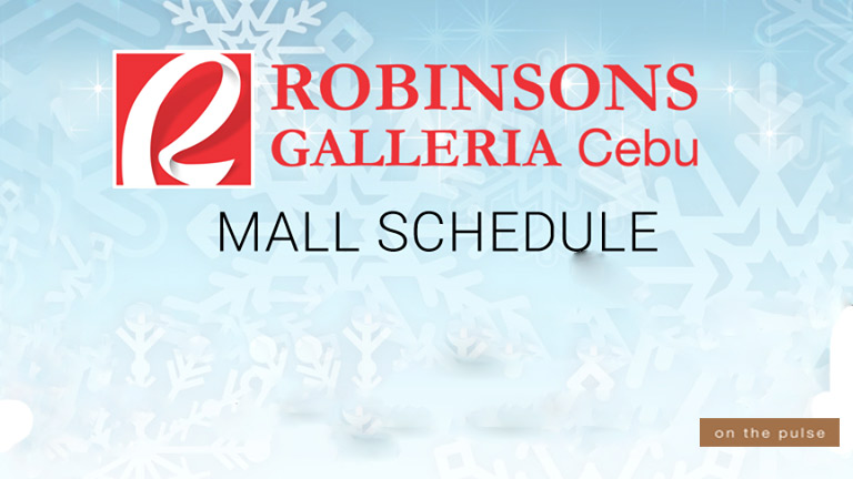 Robinsons Galleria Cebu's New Year's Day Mall Schedule