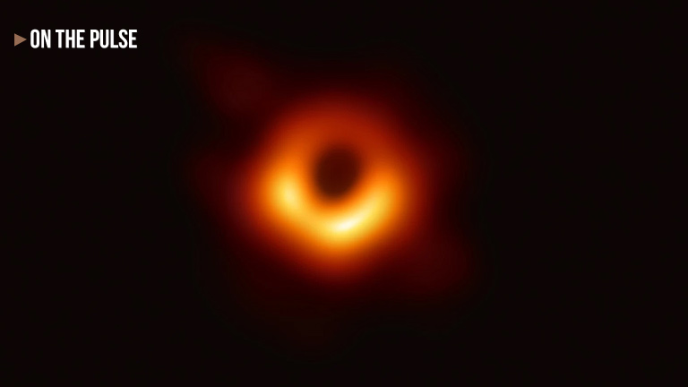 black hole firs picture