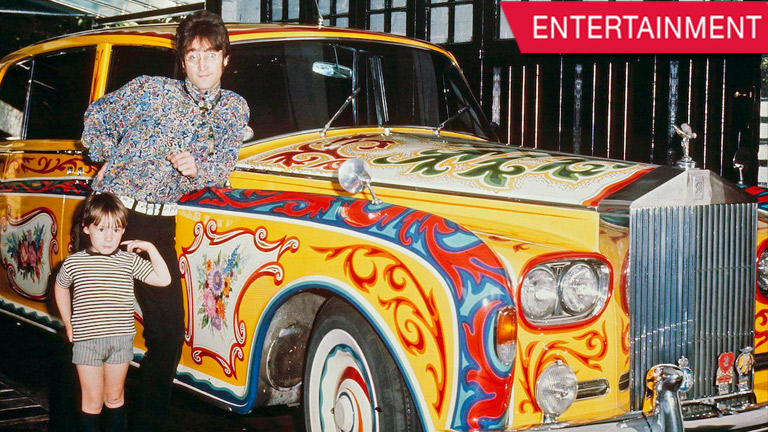 you can now see john lennon's famous psychedelic rolls-royce on