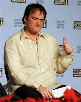 Quentin Tarantino wore the Barong during the Golden Globe nominations