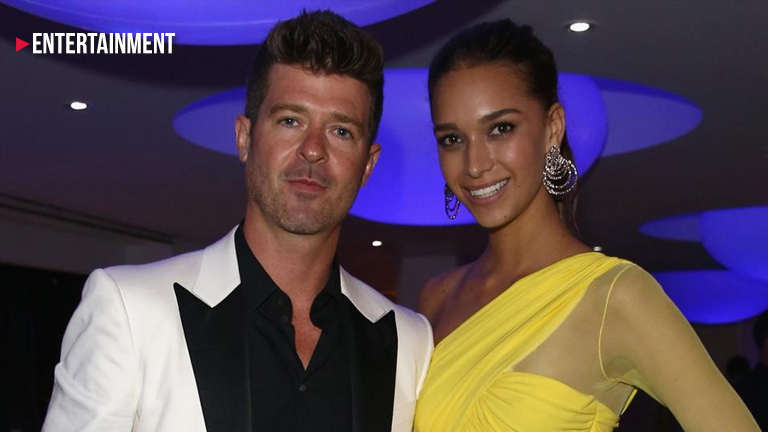 Robin Thicke and fiancée April Geary in Malibu car crash