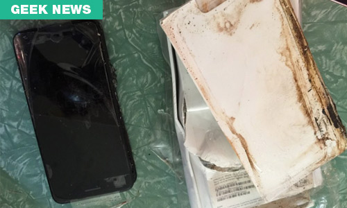 An iPhone 7 Plus has allegedly EXPLODED