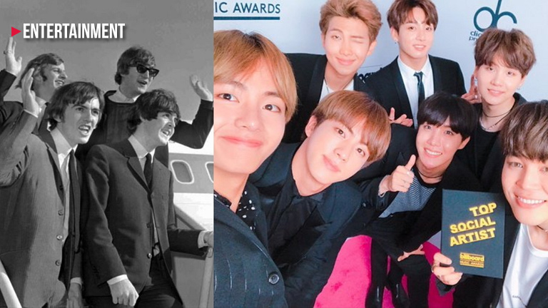 BTS  and the Beatles